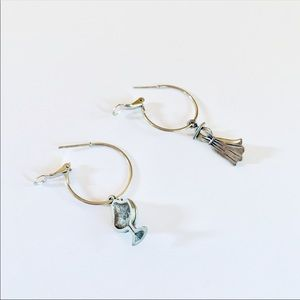 Katy Ginger Designs Jewelry - NWT KATY GINGER DESIGNS Charm Hoops